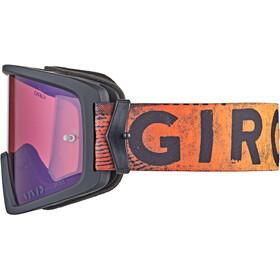 Giro Blok MTB Bril, black/red hypnotic-vivid trail/clear